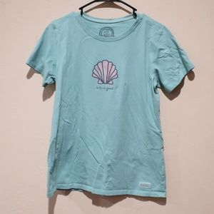 Life Is Good  Seashell Tshirt sz Medium